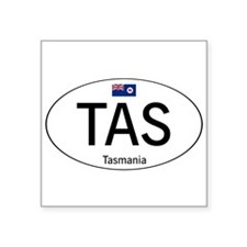 "Car code Tasmania Square Sticker 3"" x 3"""