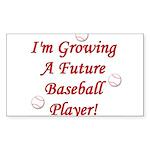Growing A Future Baseball Pla Sticker (Rectangular