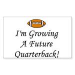 Growing A Future Quarterback Rectangle Sticker