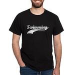 Retro Swimming Black T-Shirt