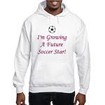 Future Soccer Star - Pink Hooded Sweatshirt