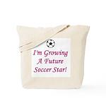 Future Soccer Star - Pink Tote Bag