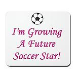 Future Soccer Star - Pink Mousepad
