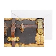 Steampunk Luggage Greeting Card