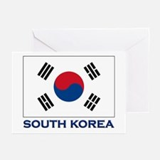South Korea Flag Stuff Greeting Cards (Package of