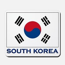 South Korea Flag Stuff Mousepad