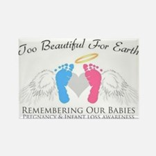 To beautiful for earth Rectangle Magnet