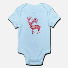 Christmas deer with snowflakes pattern Infant Body