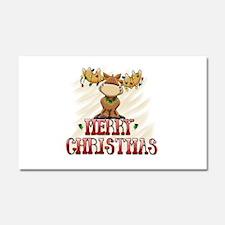 Merry Christmas Reindeer Car Magnet 20 x 12