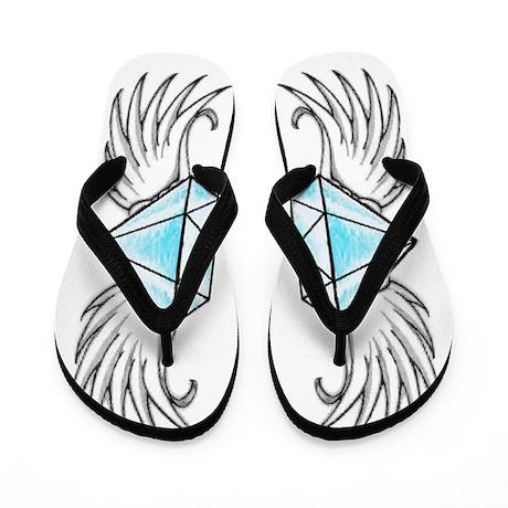 Diamonds Are Forever (blue) Flip Flops