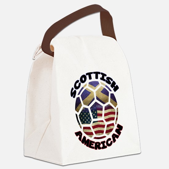 Scottish American Soccer Football Canvas Lunch Bag