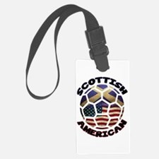 Scottish American Soccer Football Luggage Tag