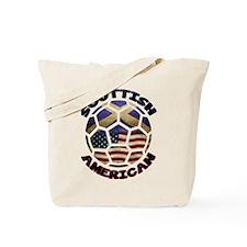 Scottish American Soccer Football Tote Bag