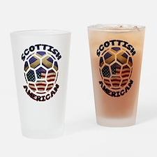 Scottish American Soccer Football Drinking Glass
