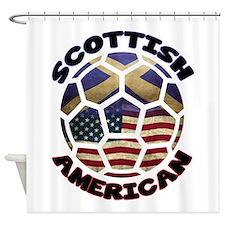 Scottish American Soccer Football Shower Curtain