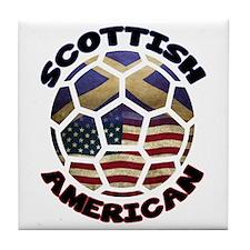 Scottish American Soccer Football Tile Coaster