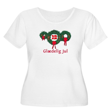 Denmark Christmas 2 Women's Plus Size Scoop Neck T