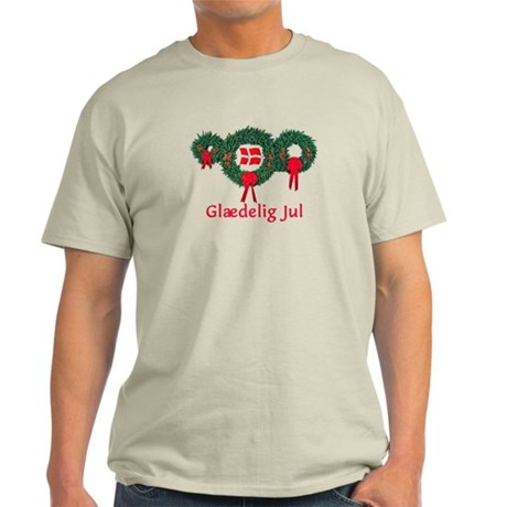 Denmark Christmas 2 Light T-Shirt