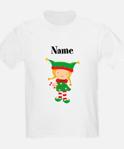 Personalized Girl Elf Kids T-Shirt