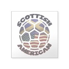 Scottish American Soccer Football Square Sticker 3