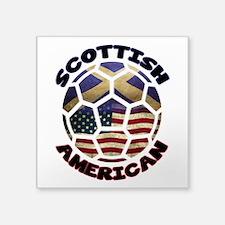 Scottish American Soccer Football Square Sticker 3