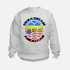 Ukrainian American Football Soccer Sweatshirt