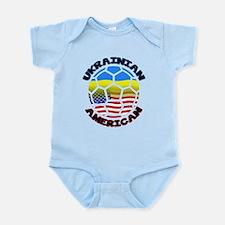 Ukrainian American Football Soccer Infant Bodysuit