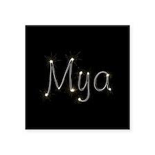 "Mya Spark Square Sticker 3"" x 3"""