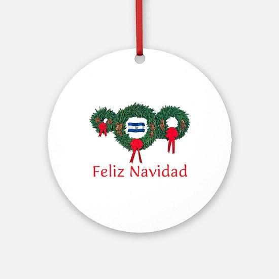 El Salvador Christmas 2 Ornament (Round)
