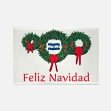 El Salvador Christmas 2 Rectangle Magnet