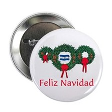 """El Salvador Christmas 2 2.25"""" Button"""