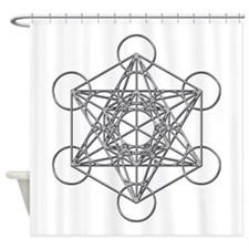 Metatrons Cube Shower Curtain