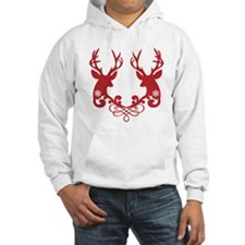 Christmas deer heads with ornaments Hoodie