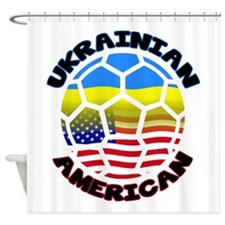 Ukrainian American Football Soccer Shower Curtain