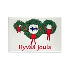 Finland Christmas 2 Rectangle Magnet