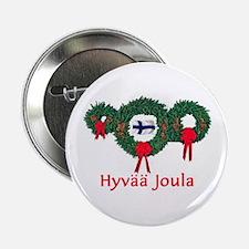 """Finland Christmas 2 2.25"""" Button"""