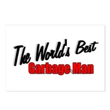"""The World's Best Garbage Man"" Postcards (Package"