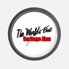 """""""The World's Best Garbage Man"""" Wall Clock"""