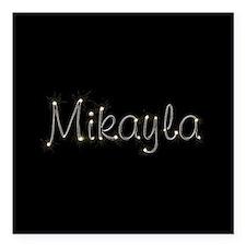 "Mikayla Spark Square Car Magnet 3"" x 3"""