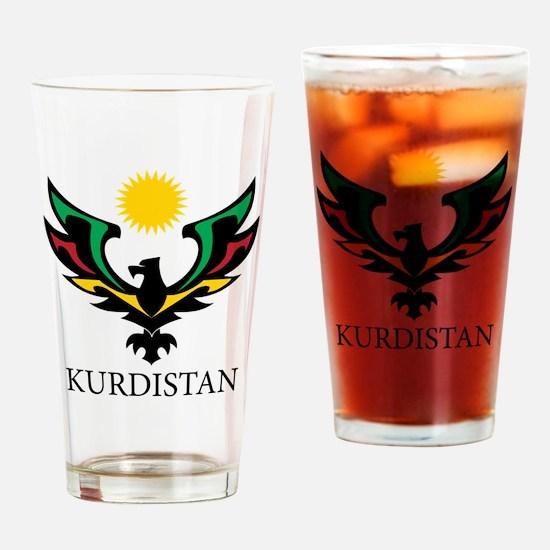 Kurdistan Eagle big Drinking Glass