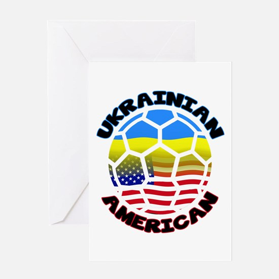 Ukrainian American Football Soccer Greeting Card
