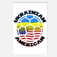 Ukrainian American Football Soccer Postcards (Pack