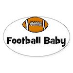 Football Baby Oval Sticker