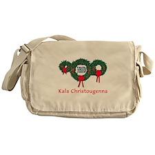 Greece Christmas 2 Messenger Bag