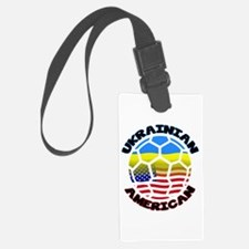Ukrainian American Football Soccer Luggage Tag