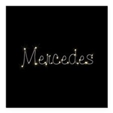 "Mercedes Spark Square Car Magnet 3"" x 3"""