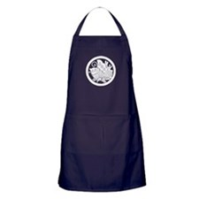 Ageha butterfly in circle Apron (dark)