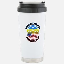 Ukrainian American Football Soccer Travel Mug
