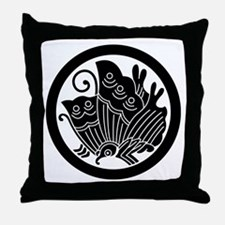 Ageha butterfly in circle Throw Pillow