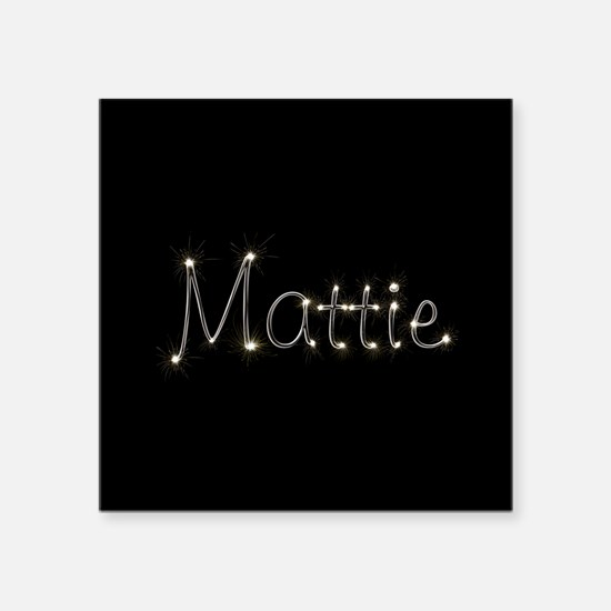 "Mattie Spark Square Sticker 3"" x 3"""